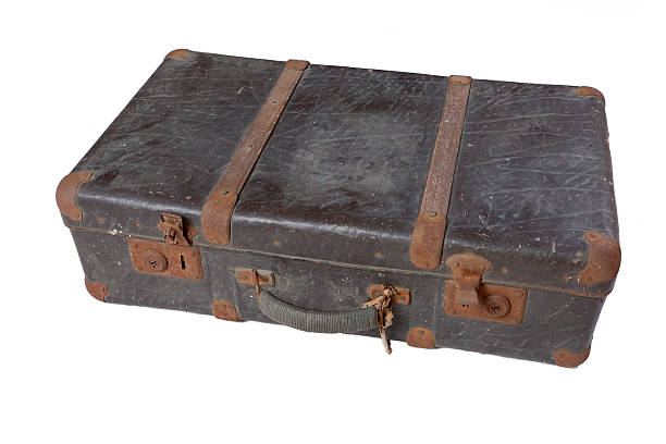 Vintage suitcase horizontal stock photo