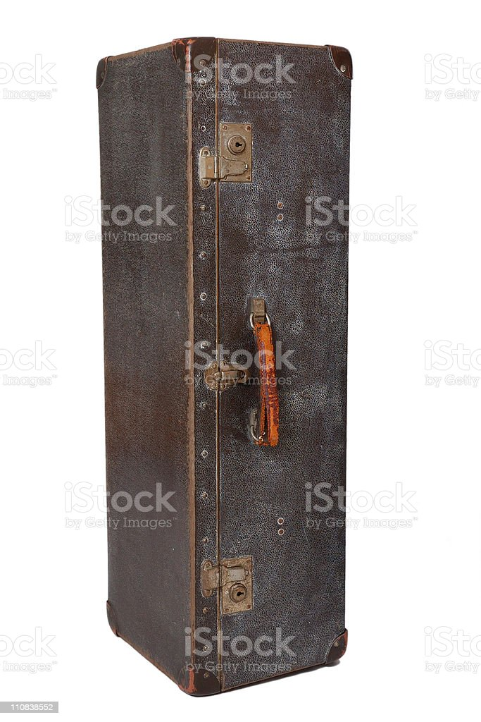 Vintage suitcase vertical stock photo