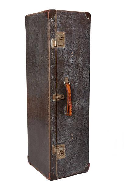 Vintage suitcase vertical stock photo