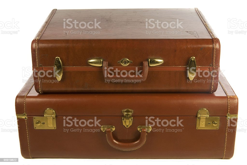 vintage suitcases royalty-free stock photo