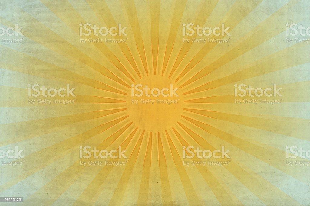 Vintage Sun Rays XXL royalty-free stock photo