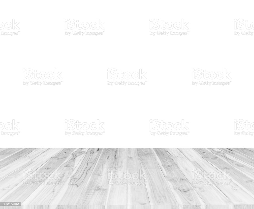 Vintage Surface White Wood Table And Rustic Grain Texture