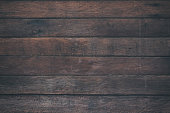 istock Vintage surface wood table and rustic grain texture background. Close up of dark rustic wall made of old wood table planks texture. Rustic brown wood table texture background template for your design. 697800972