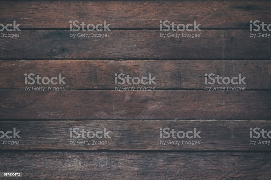 Beau Vintage Surface Wood Table And Rustic Grain Texture Background. Close Up Of  Dark Rustic Wall