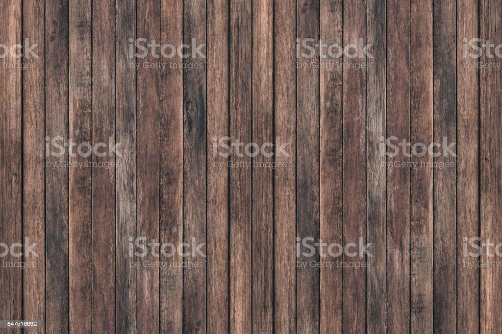 Vintage Oberfläche Holztisch und rustikalen Getreide Textur Hintergrund. Nahaufnahme des dunklen rustikale Wand aus alten Holztisch Planken Textur. Rustikalen braunen Holztisch Textur Hintergrundvorlage für Ihr Design. – Foto