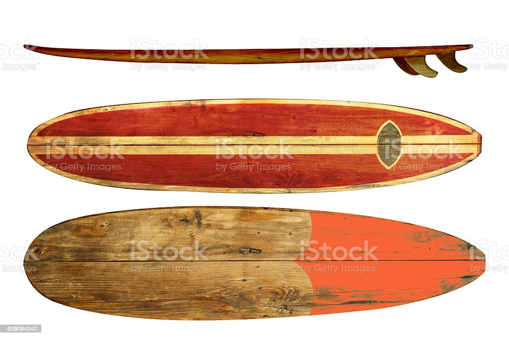 vintage surfboards stock photo