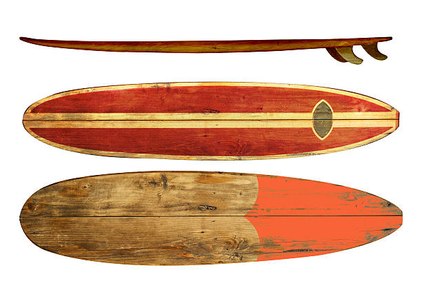 0fa3dd3219 vintage surfboards stock photo