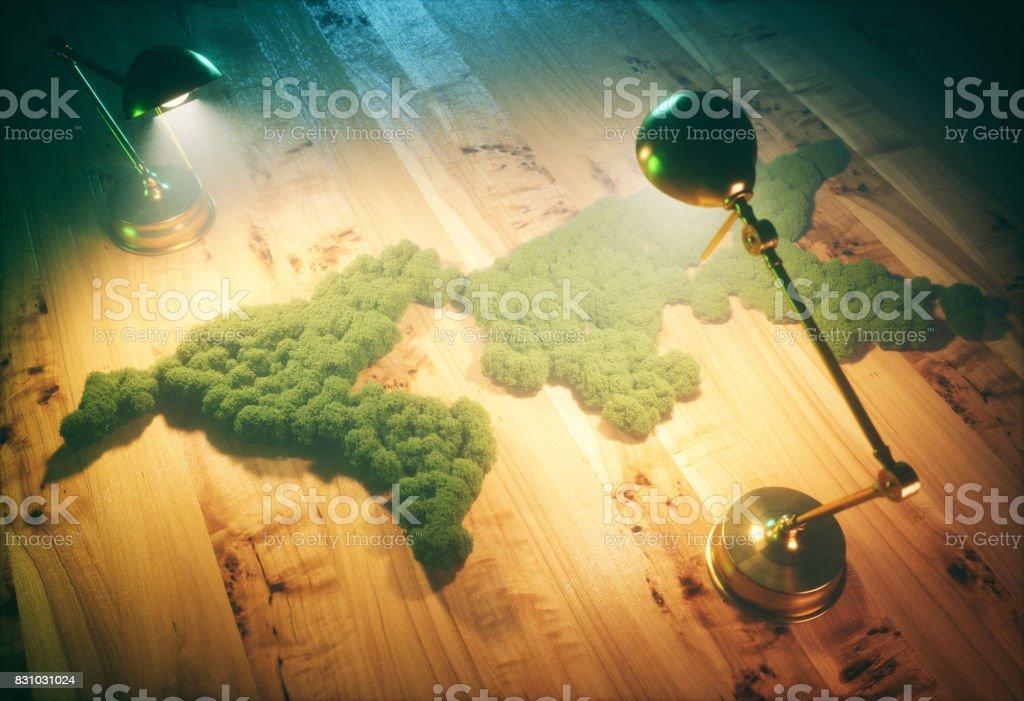 Concepto de desarrollo sostenible vintage. Ilustración 3D. - foto de stock