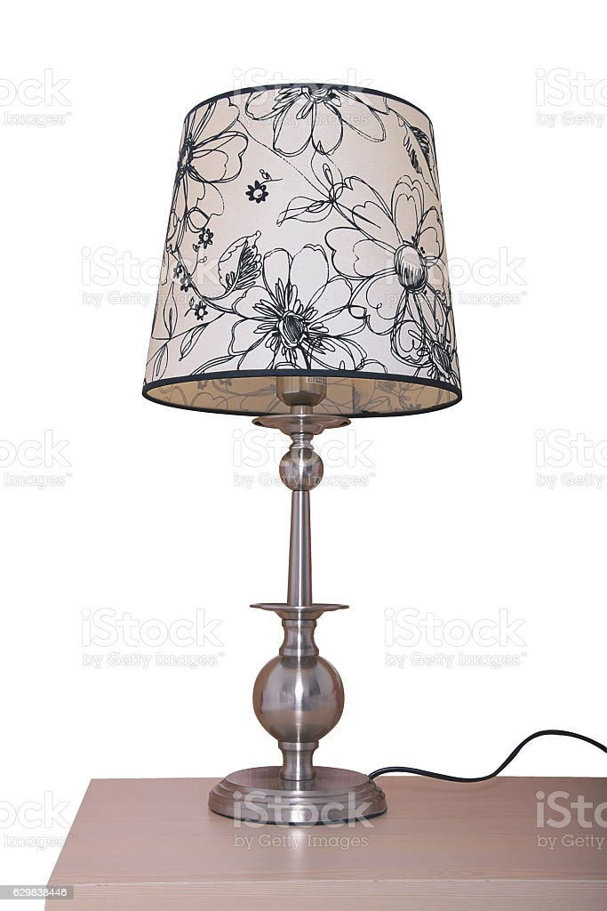 Vintage table lamp stock photo