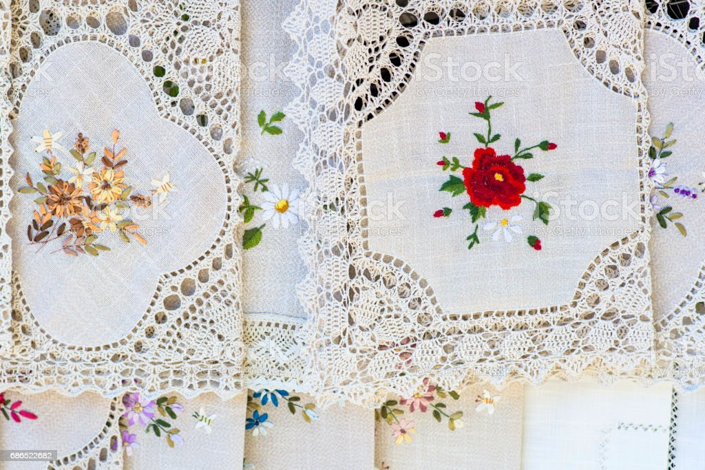Vintage tablecloths foto stock royalty-free