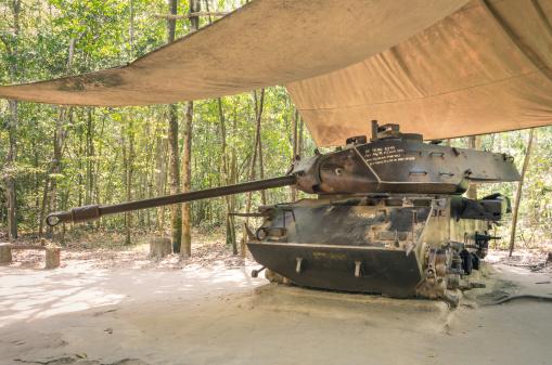 Vintage Tank at Cu Chi Tunnels - Saigon, Vietnam