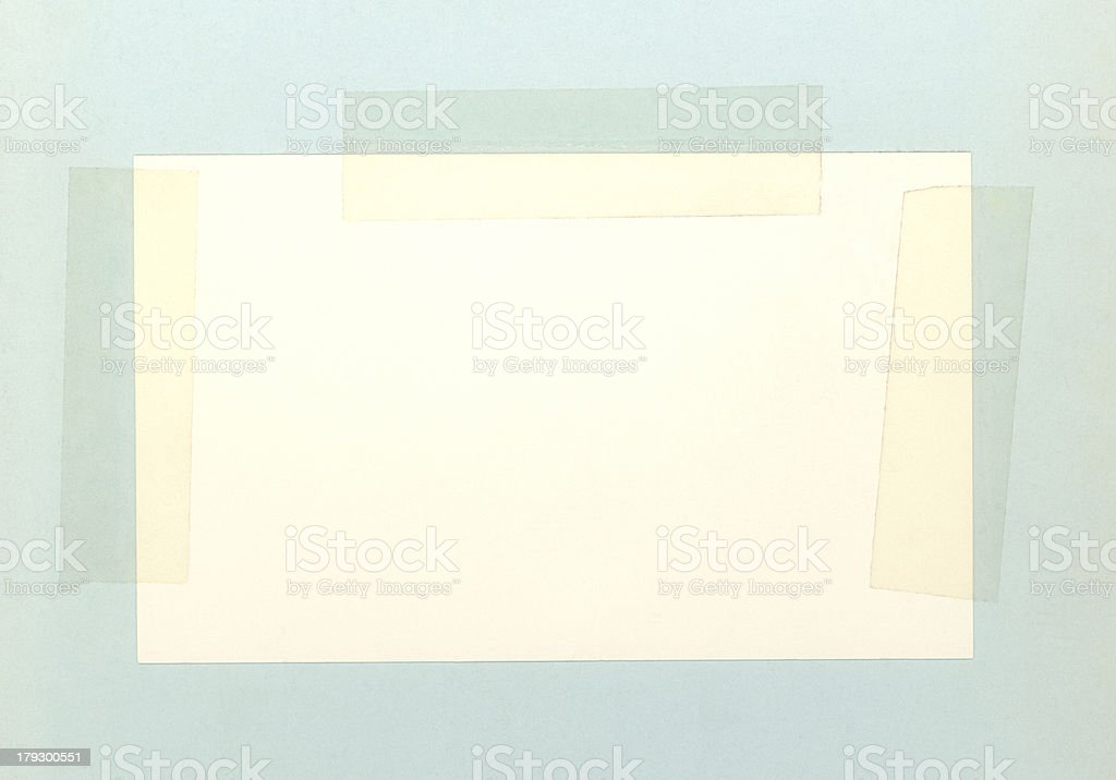 Vintage Taped Index Card royalty-free stock photo