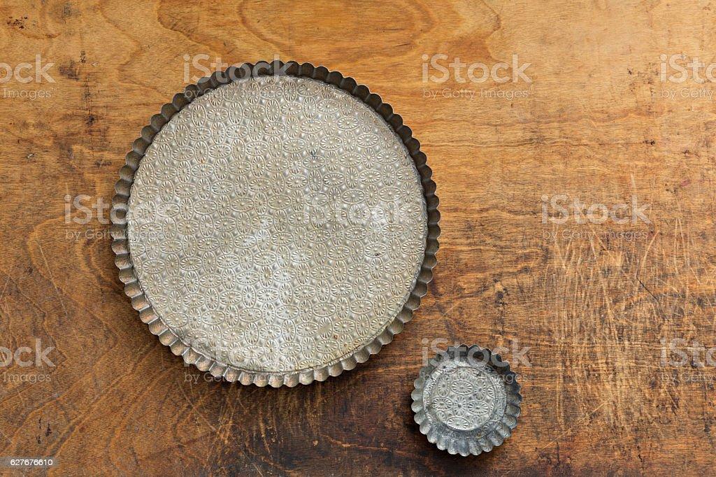 Vintage Tart Pans stock photo