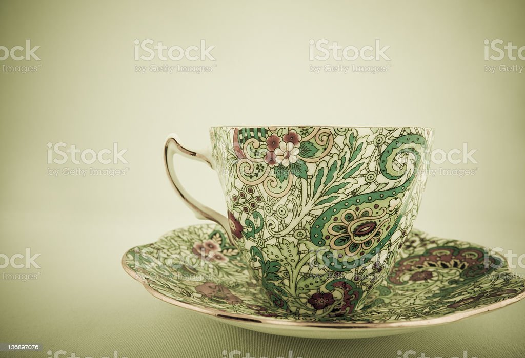 Vintage tea cup royalty-free stock photo