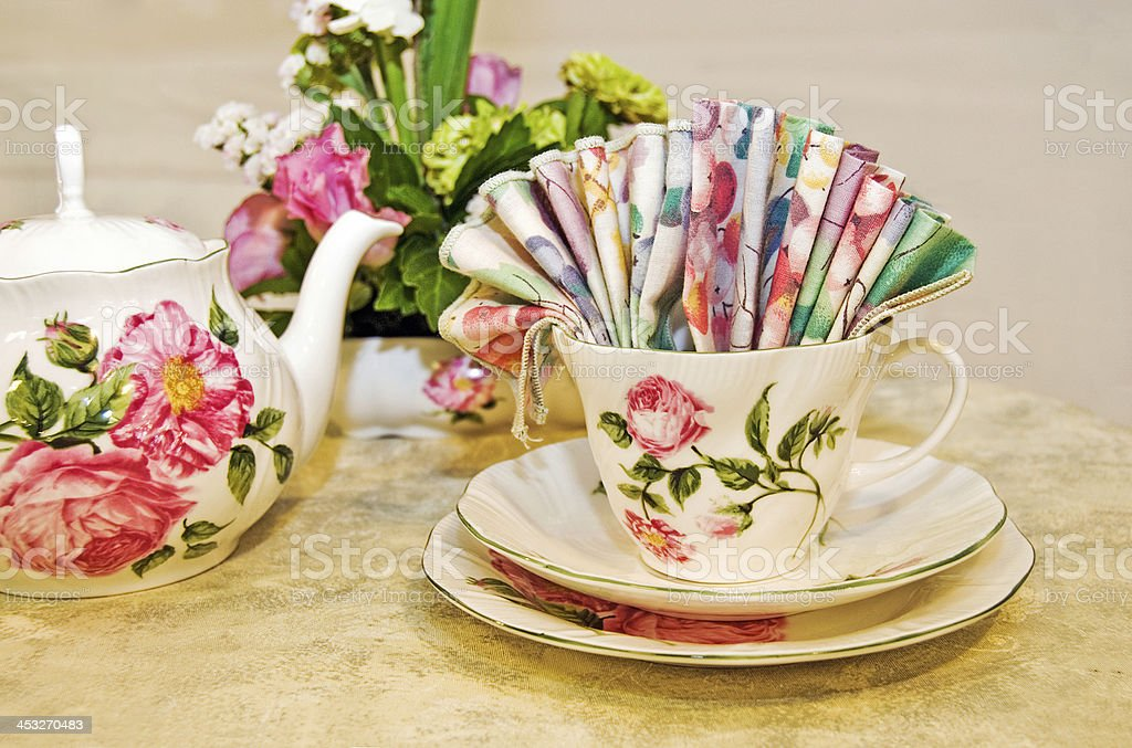 vintage tea set royalty-free stock photo