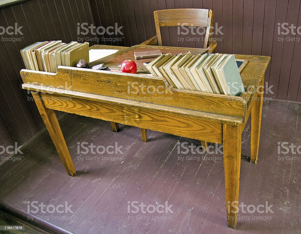 Brilliant Vintage Teachers School Desk Stock Photo Download Image Beutiful Home Inspiration Ommitmahrainfo