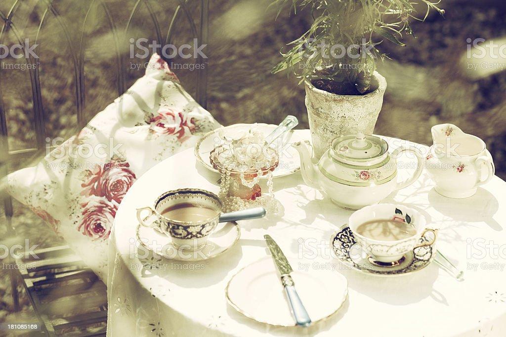 Vintage Teatime stock photo