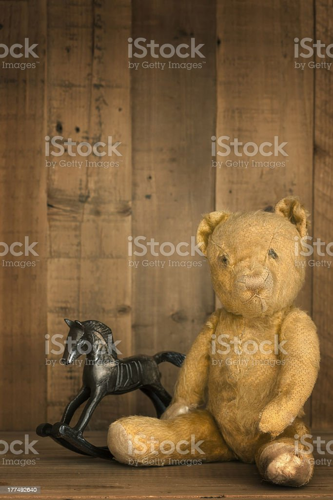 Vintage Teddy Bear And Rocking Horse Stock Photo Download Image Now Istock