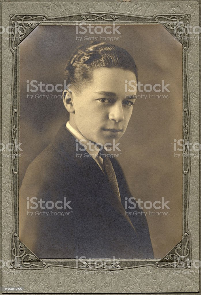 Vintage teenager royalty-free stock photo
