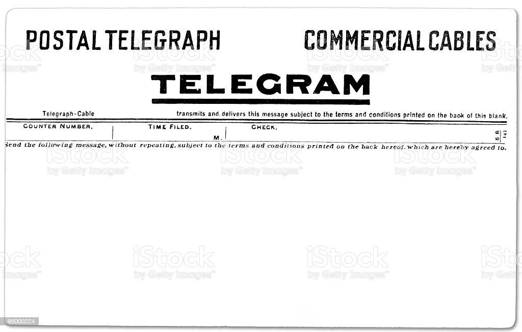 Vintage Telegram royalty-free stock photo