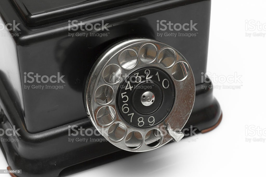 Vintage telephone 1920 royalty-free stock photo