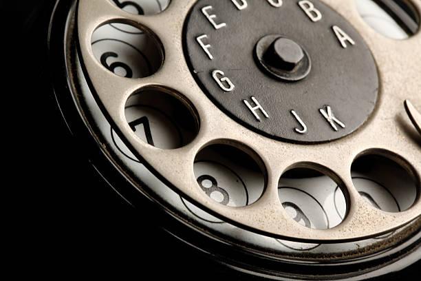 vintage telephone detail stock photo