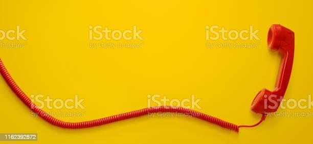 Photo of Vintage telephone handset isolated on white background