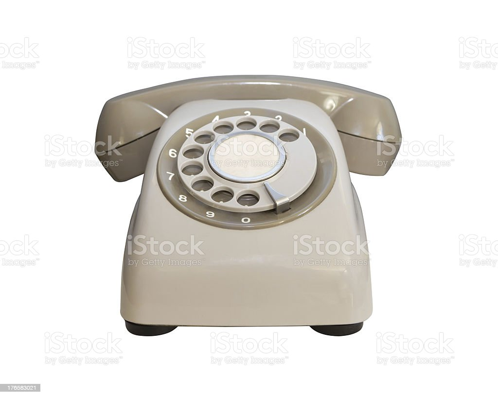 Vintage telephone on white background royalty-free stock photo