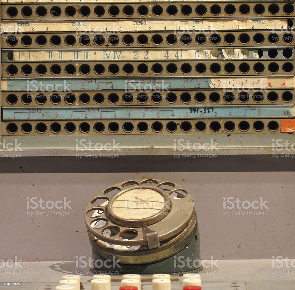 Vintage Telephone Switchboard stock photo