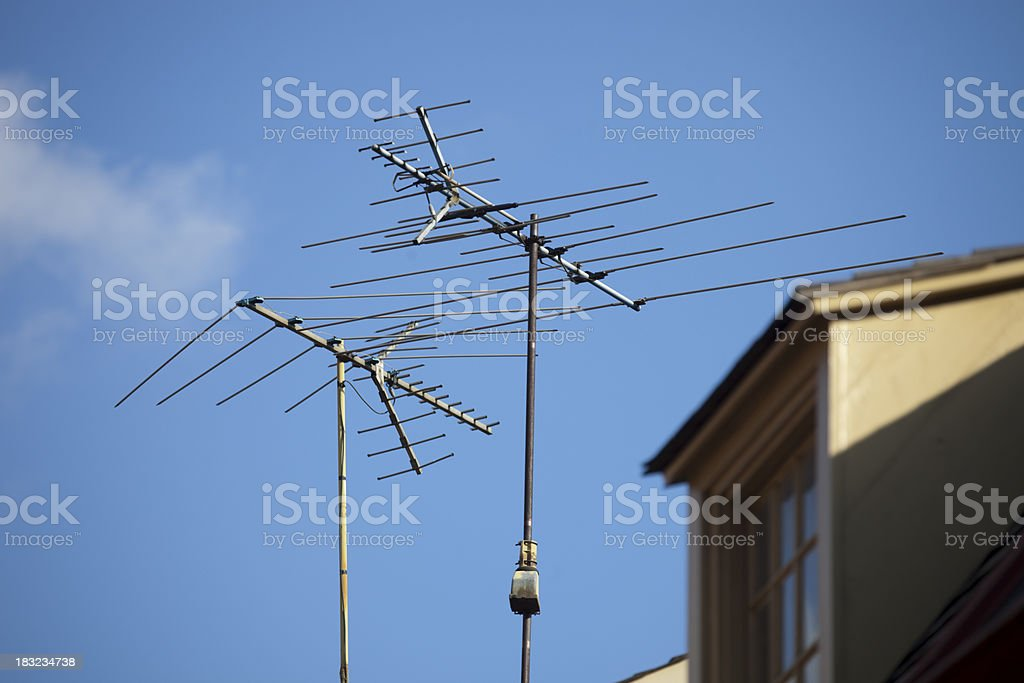 Vintage Television Antenna royalty-free stock photo