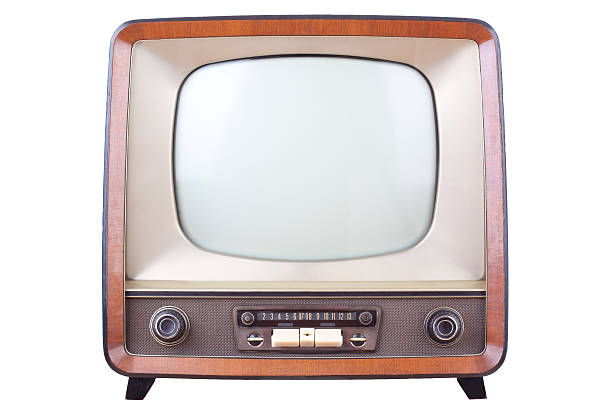 vintage television - 1950s style stock photos and pictures