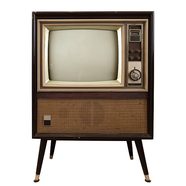 vintage television - the past stock photos and pictures