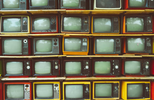 vintage television - 1970s style stock photos and pictures
