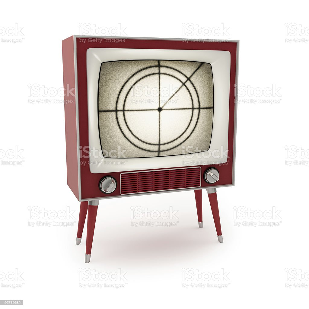 Vintage Television royalty-free stock photo