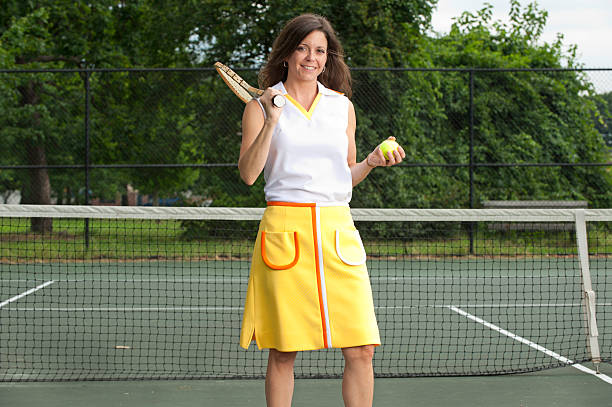 Vintage Tennis player stock photo