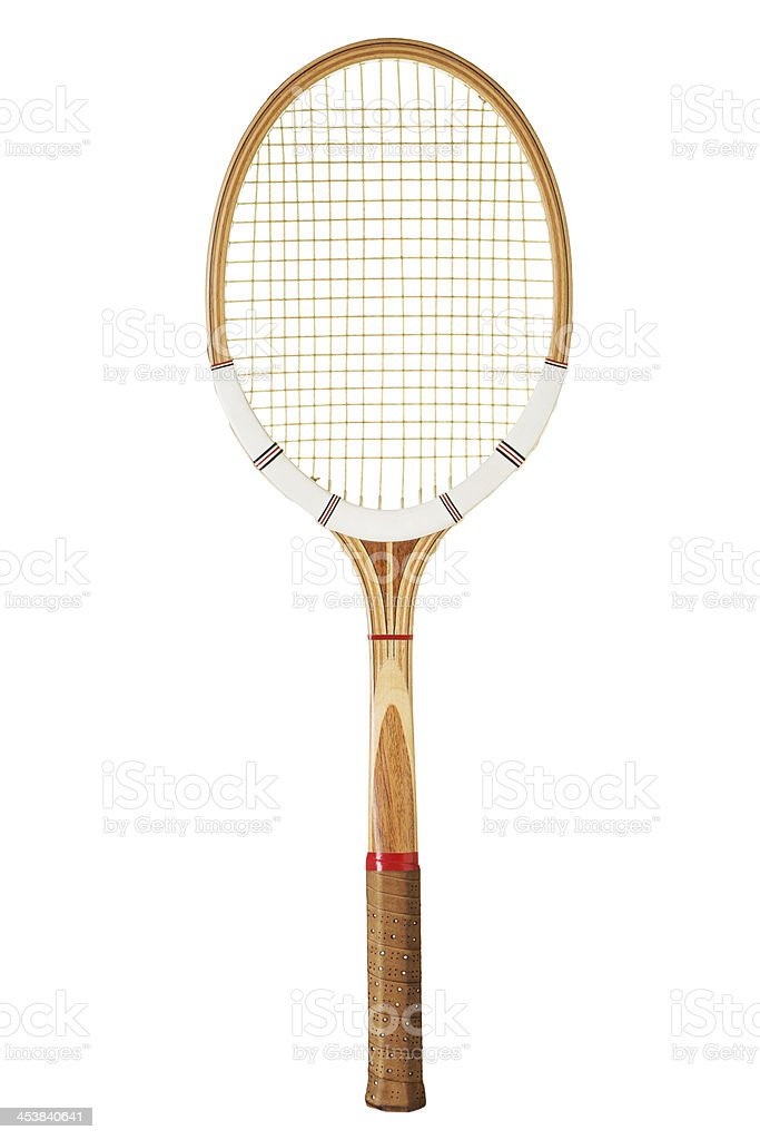 Vintage tennis racket stock photo