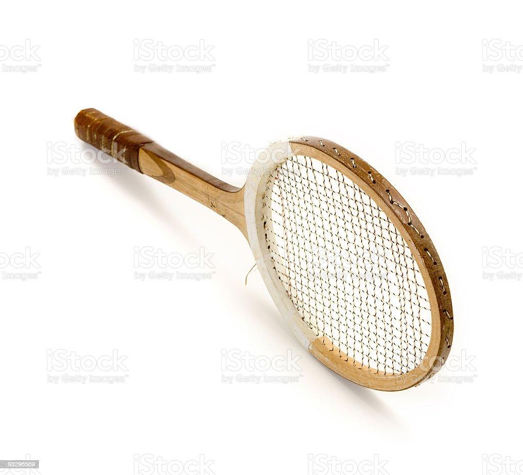 vintage tennis racquet stock photo