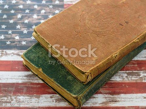 1034955096 istock photo Vintage textbooks for school 913877062