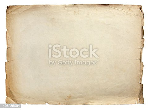 istock Vintage texture old paper background 496285094