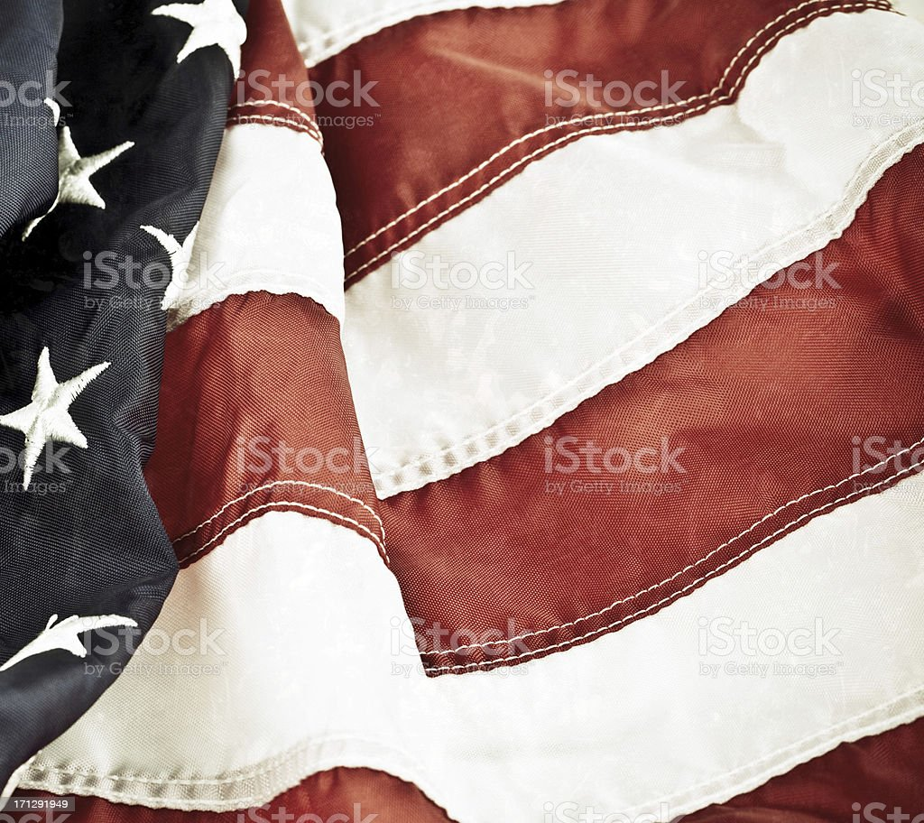 Vintage Textured American Flag Background stock photo