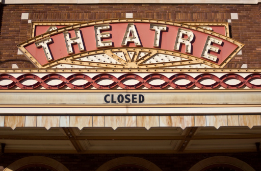 Vintage Theater Marquee Stock Photo - Download Image Now