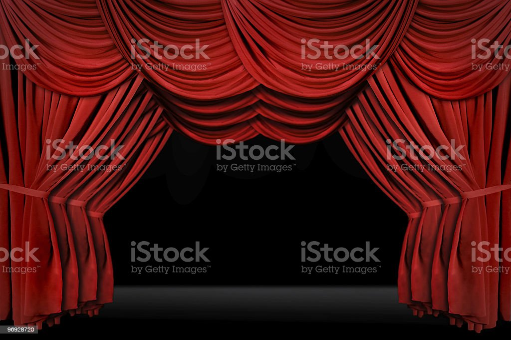 Vintage Theater Stage Drapes royalty-free stock photo