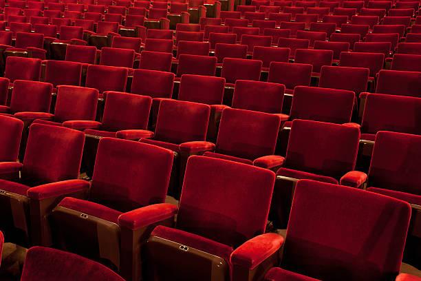 vintage theater-sitzbereich - stage musical stock-fotos und bilder