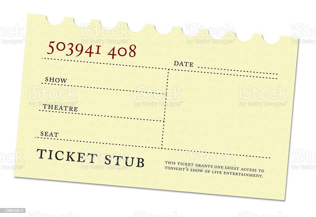 Vintage Ticket Stub stock photo