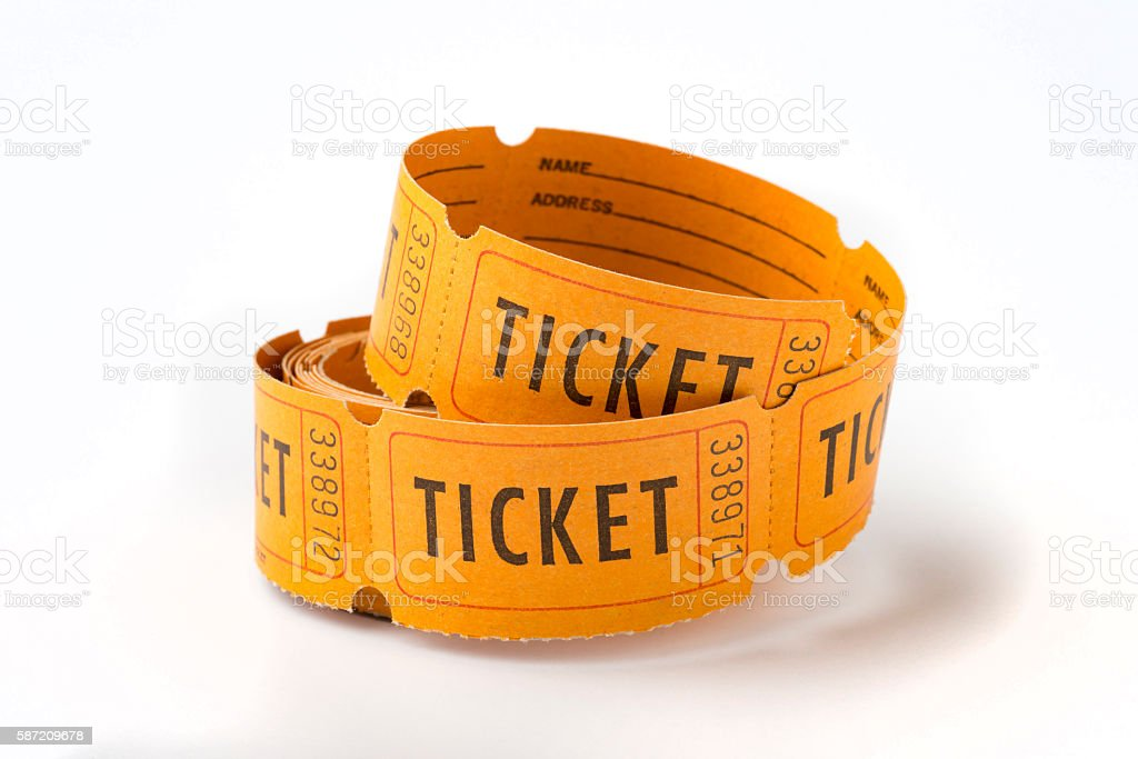Vintage ticket stubs stock photo