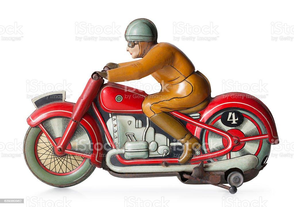 Vintage tin Spielzeug Motorrad – Foto
