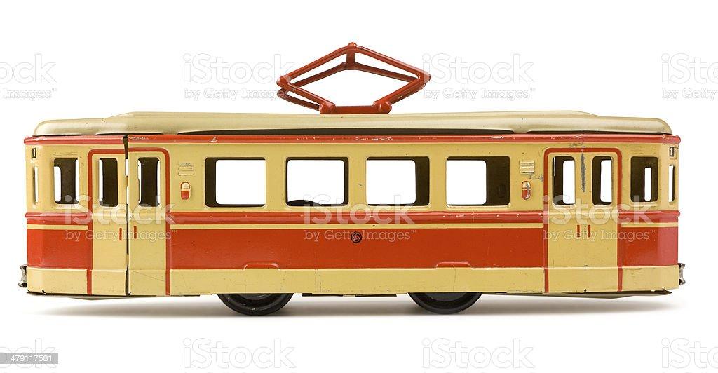 Vintage tin toy street car royalty-free stock photo