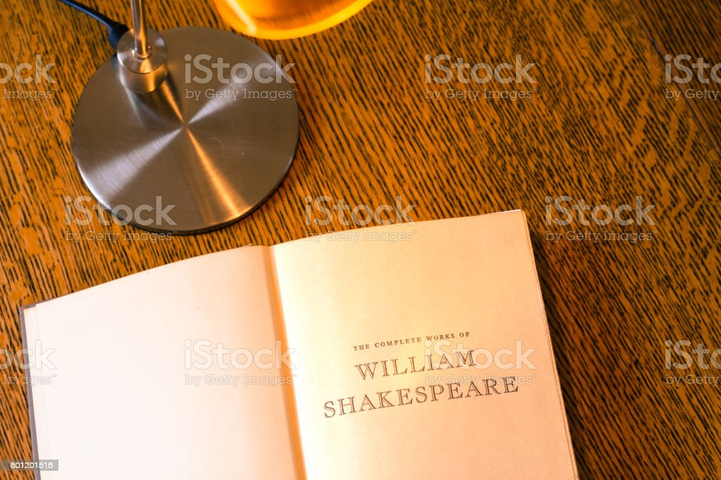 Vintage Title Page: 'The Complete Works of William Shakespeare' stock photo