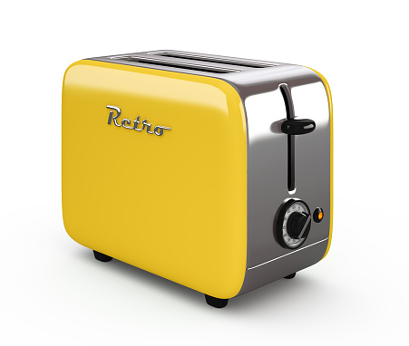 Vintage toaster isolated on white background 3D illustration