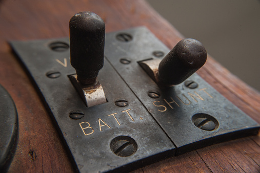 Vintage toggle switches old steampunk